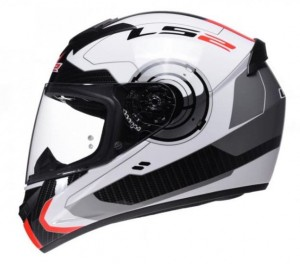 Kask LS2 FF352 ROOKIE ATMOS White Red L